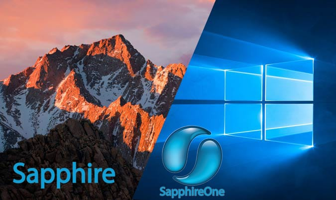Sapphire and SapphireOne : macOS Sierra and Windows 10 certified