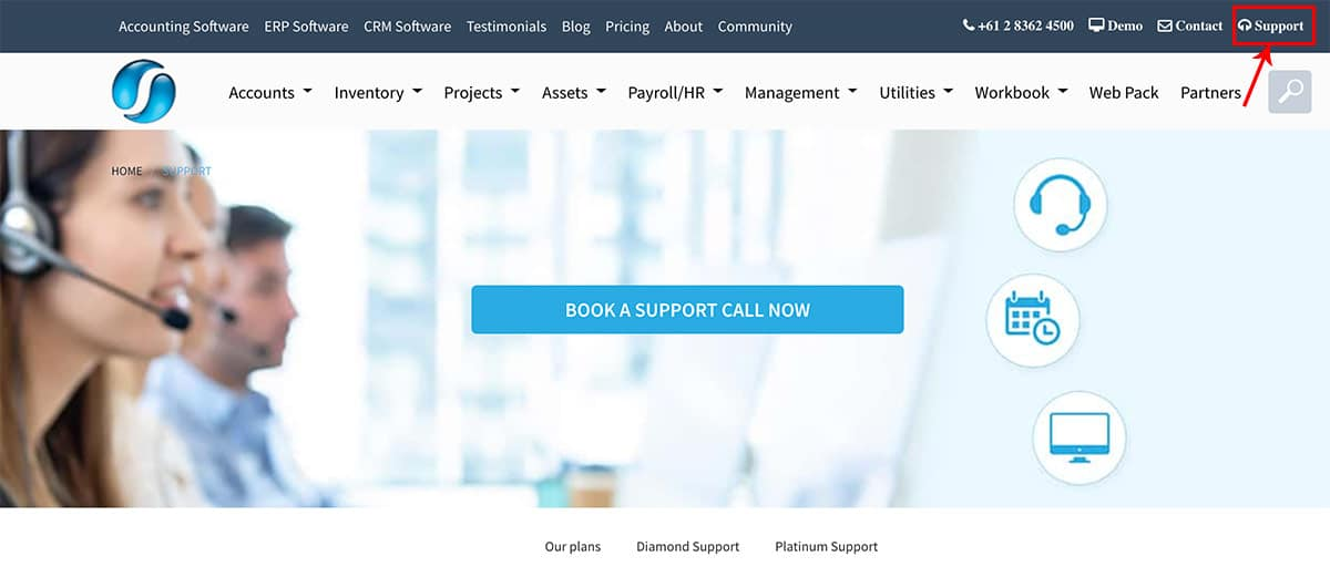 SapphireOne Support Booking