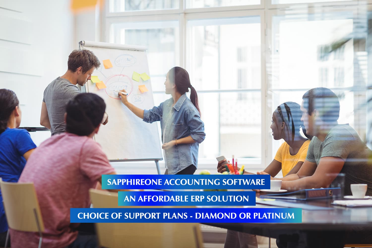 SapphireOne Business Accounting Software is an affordable ERP solution with a choice of support plans - Diammond or Platinum