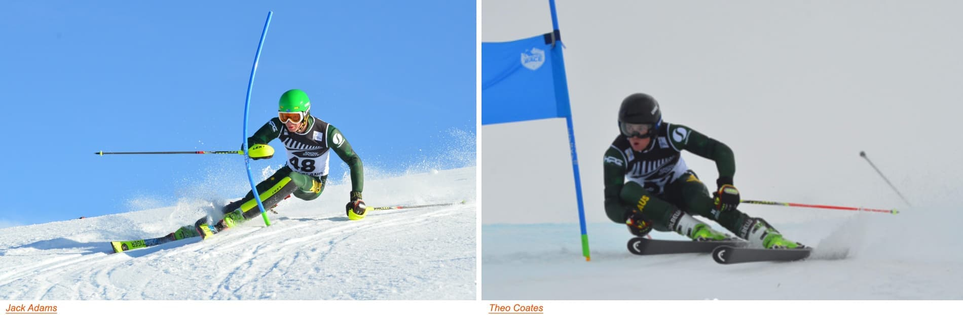Jack Adams, Theo Coates, Connor Leggett and Shaun Findlay fought the fierce competition in the GS and Slalom events and had some significant results