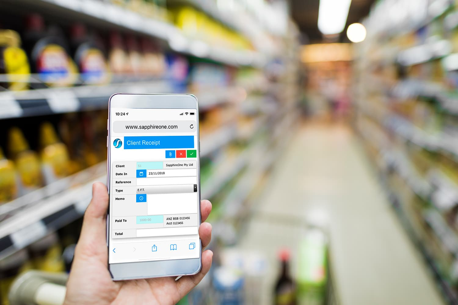 Complete control for multi-location supermarket and retail chains with SapphireOne ERP, CRM, DMS Business Accounting Application