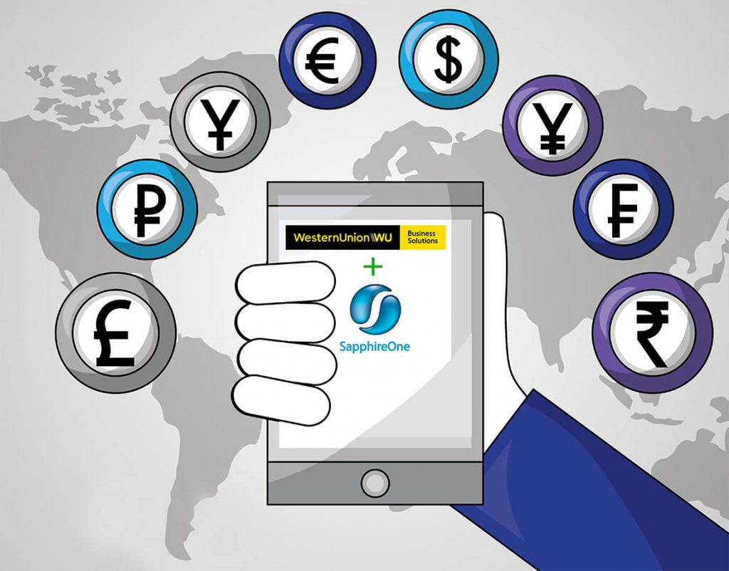 WesternUnion and SapphireOne ERP - Manage Foreign Exchange