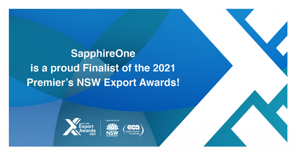Thank you to the Export Council of Australia for recognising SapphireOne, and congratulations to all the finalists!